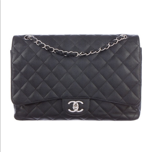 9b5a42be51382a CHANEL Bags | Authentic Classic Maxi Black Caviar | Poshmark